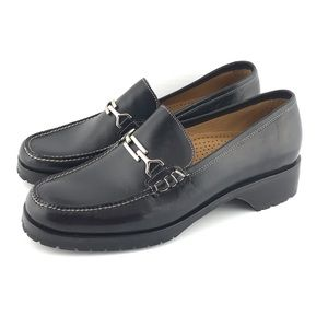 Cole Haan Black Leather Loafers EUC